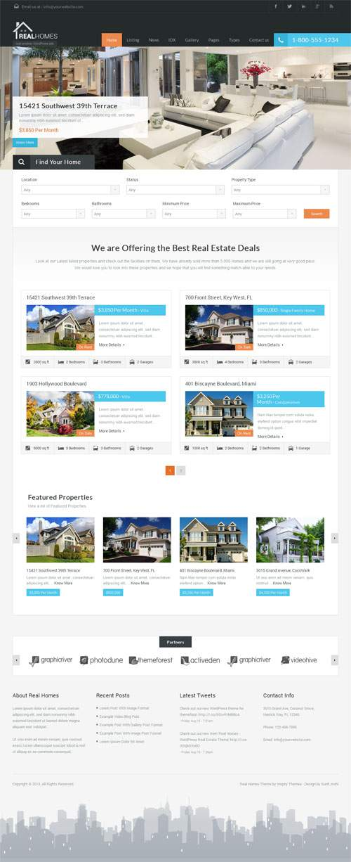 Real Homes - theme wordpress immobilier