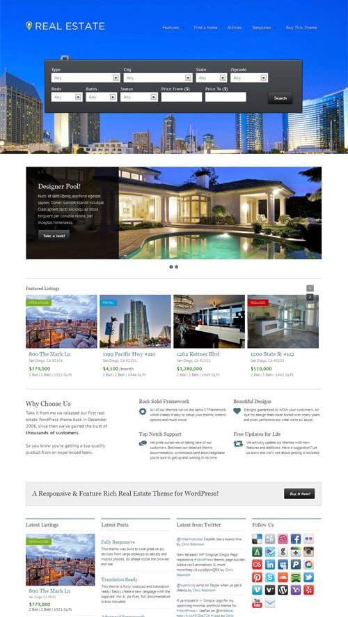 WP Pro Real Estate 4 - theme wordpress immobilier