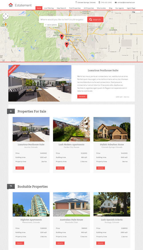 Estatement - theme wordpress immobilier