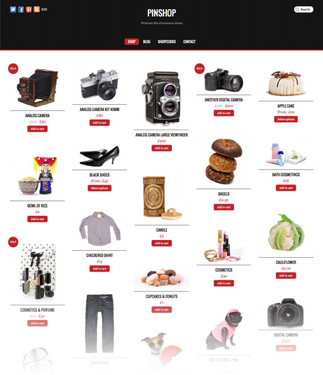 Pinshop - theme wordpress ecommerce