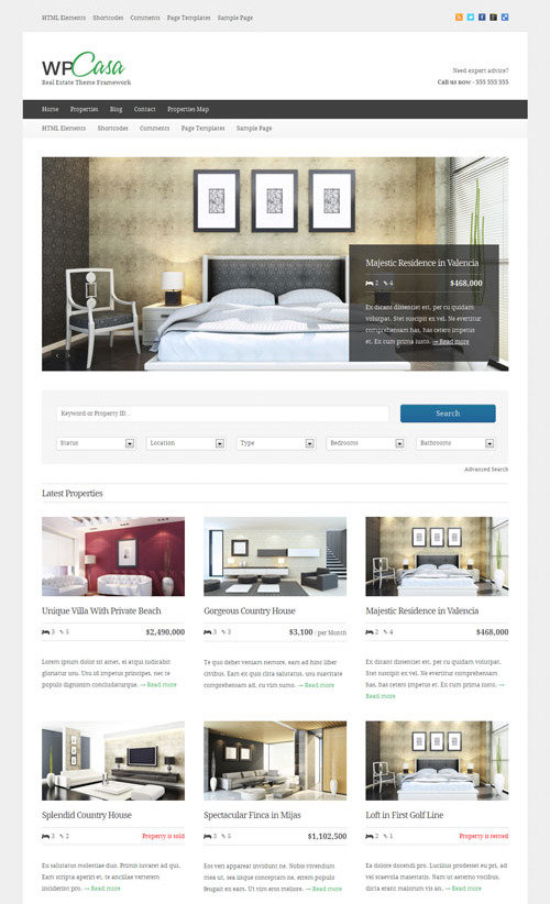 wpcasa - theme wordpress immoblier