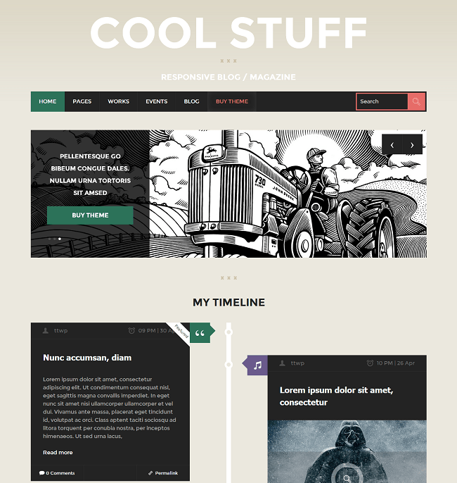 Cool Stuff - theme-wordpress blog