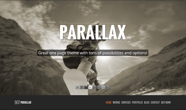 907 est theme wordpress one page parallax