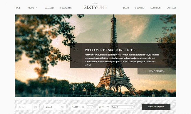 SixtyOne - theme wordpress hotel