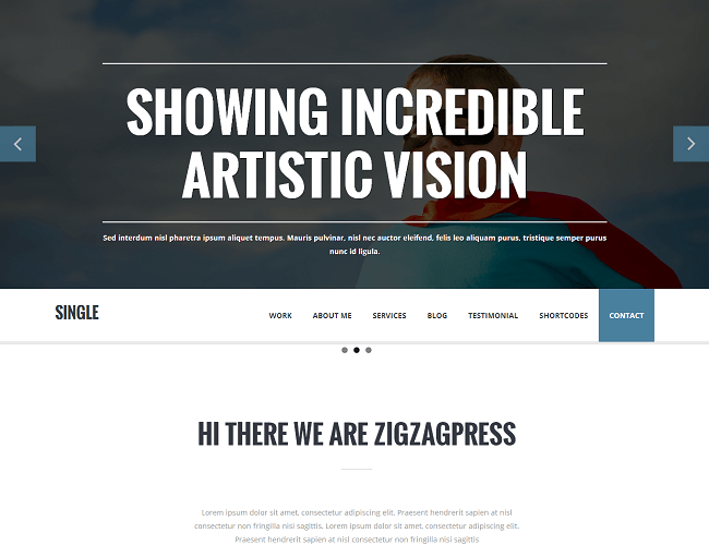 Single - theme wordpress one page