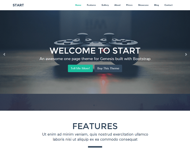 Start est un theme WordPress pour Genesis