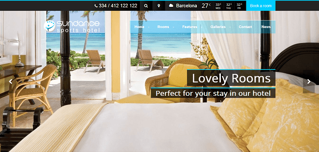 Sundance - Hotel WordPress Theme