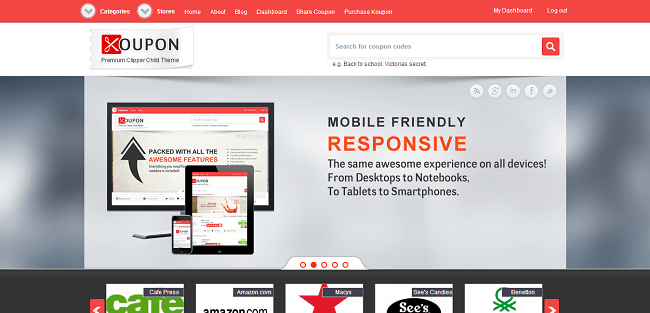 Koupon - Theme WordPress Coupon Reduction