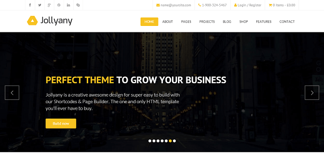 JollyAny - Theme WordPress Business & Entreprise