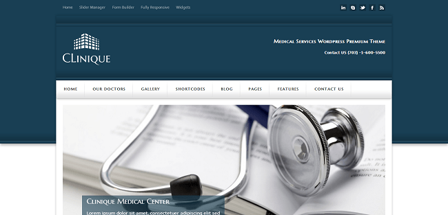 Clinique : Responsive Medical Theme