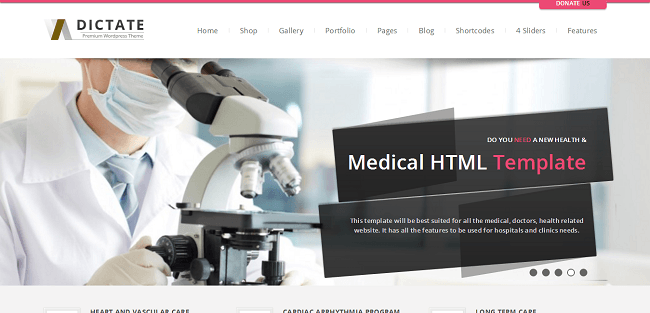 Dictate : Theme WordPress Medical