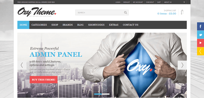 Oxy - Theme WordPress Responsive