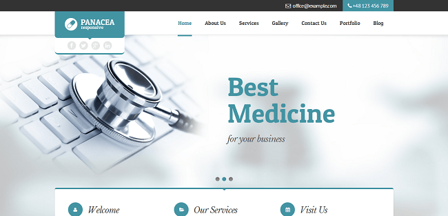 Panacea : Theme WordPress Medical