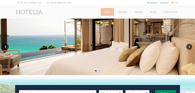 Hotelia - Theme WordPress Hotel