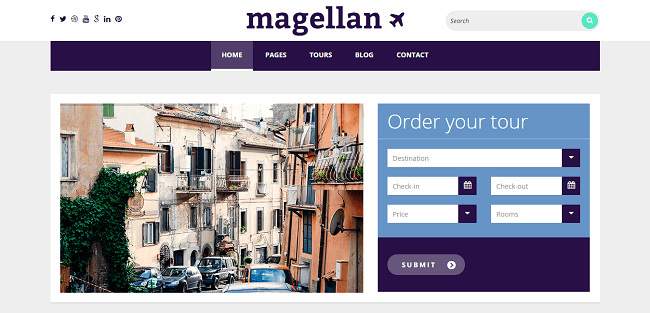 Magellan : Theme WordPress Voyage