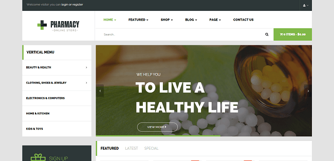 Pharmacy : Template WordPress eCommerce