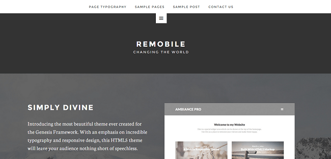 Remobile Pro : Theme WordPress Business