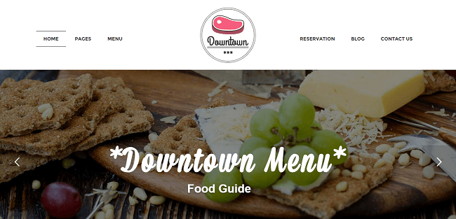 Downtown : Theme WordPress Restaurant