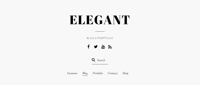 Elegant : Theme WordPress Blog et Portfolio