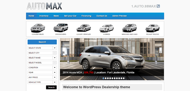 Automax : Template WordPress Automobile