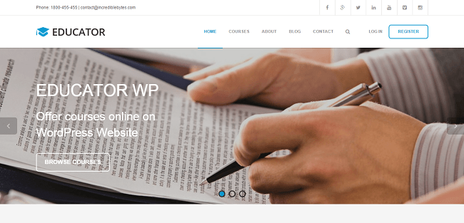 Educator WP - LMS WordPress Theme