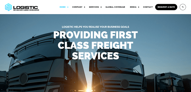 Logistic : Theme WordPress pour Société de Transport