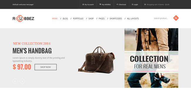 Rubbez : Theme WordPress pour site eCommerce et Business