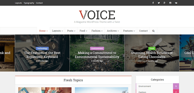 Voice : Template WordPress Blog & Magazine