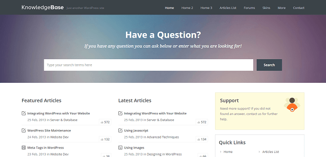 Knowledge Base : Theme WordPress Wiki