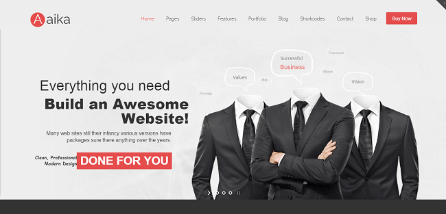 Aaika : Template WordPress Business