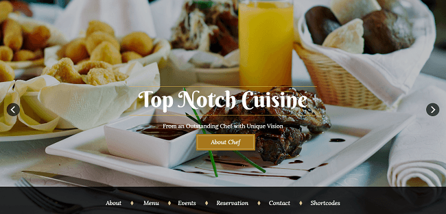 Bon Appetit : Template WordPress Restaurant
