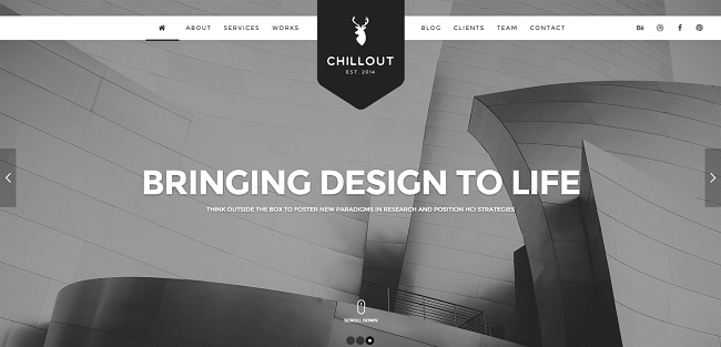 Chillout : Parallax One-Page WordPress Theme