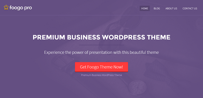 Foogo Pro : Premium Business WordPress Theme