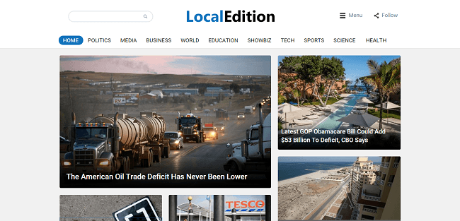 LocalEdition : News WordPress Magazine Theme