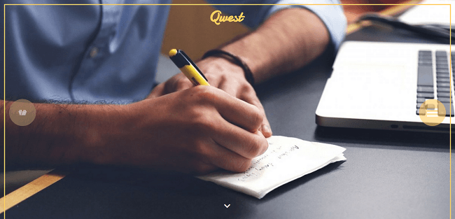 Qwest : Template WordPress Parallax Polyvalent