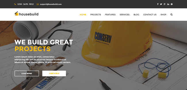 Housebuild - Template WordPress Construction