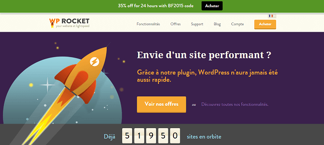 WP Rocket - Plugin de cache : Offre Black Friday