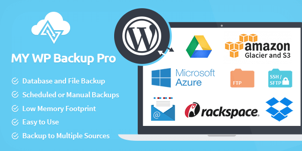My WP Backup Pro - Plugin WordPress de Sauvegarde manuelle et sur le cloud
