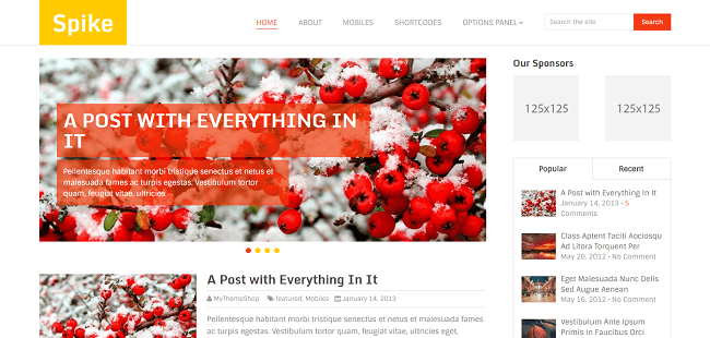 Spike - WordPress Blog Theme