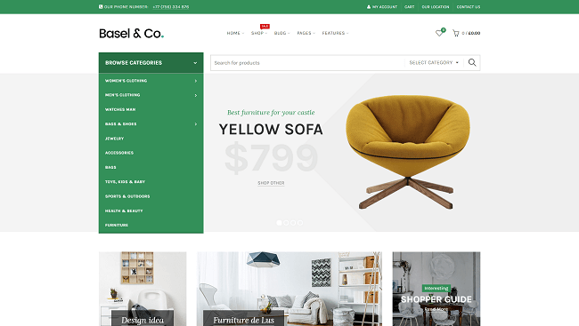 Basel - responsive e-commerce theme