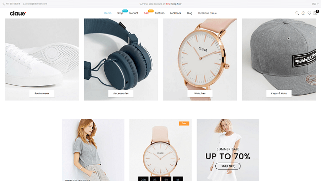 Claue - theme wordpress minimaliste