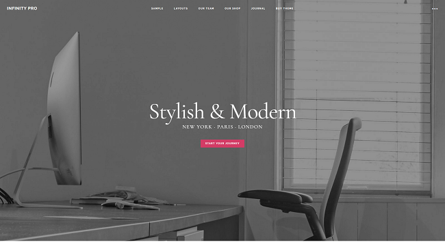 Infinity Pro - Theme WordPress pour son site de business digital. Par Studiopress.