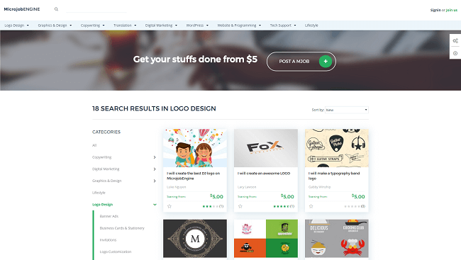 MicrojobEngine - theme wordpress pour Plateforme de micro jobs, freelance