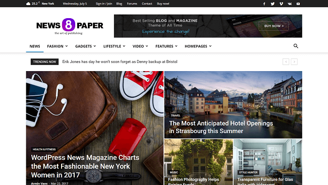 Newspaper - Thème WordPress Journal & News
