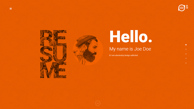 Resume - Theme WordPress CV