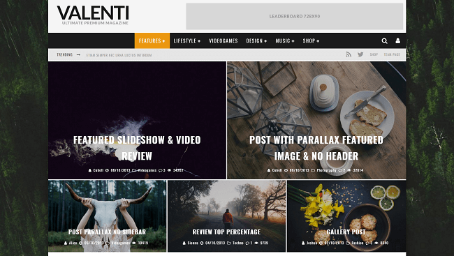 Valenti - Theme WordPress de Review Magazine