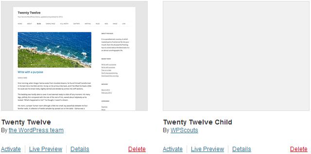 Liste des Thèmes WordPress