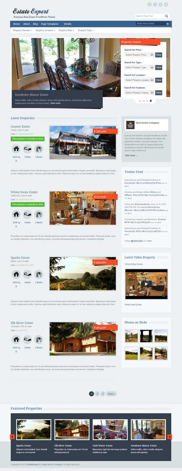 EstateExpert-  theme wordpress immobilier