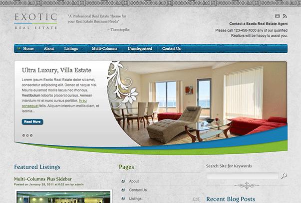 Exotic - theme wordpress immobilier