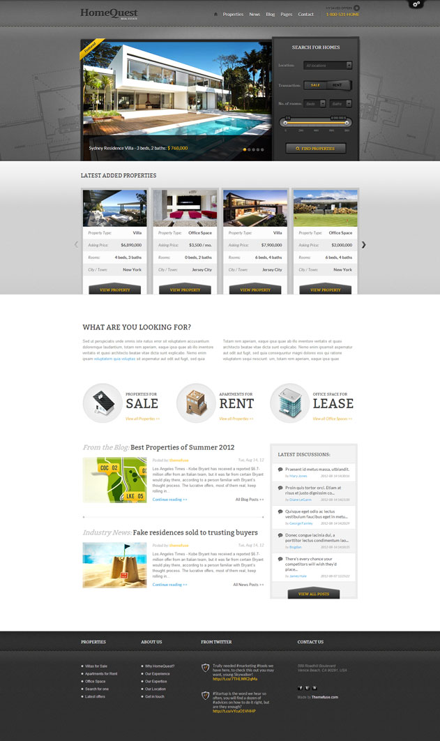 HomeQuest - theme wordpress immobilier
